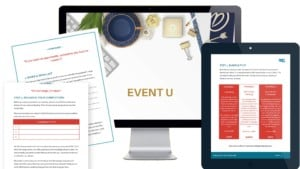 online event planning course workbooks