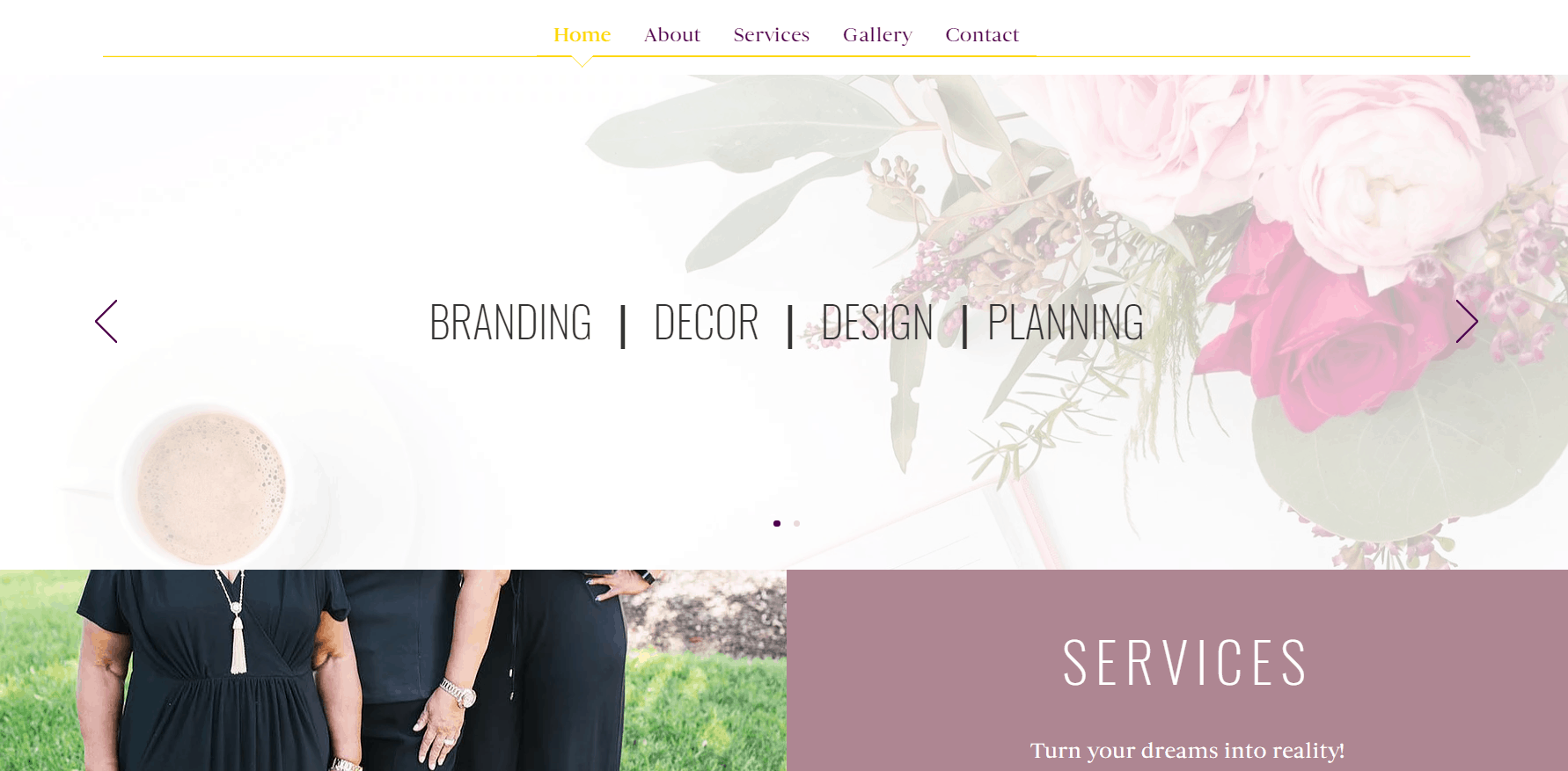 Home Page - An Event Lady Production Website