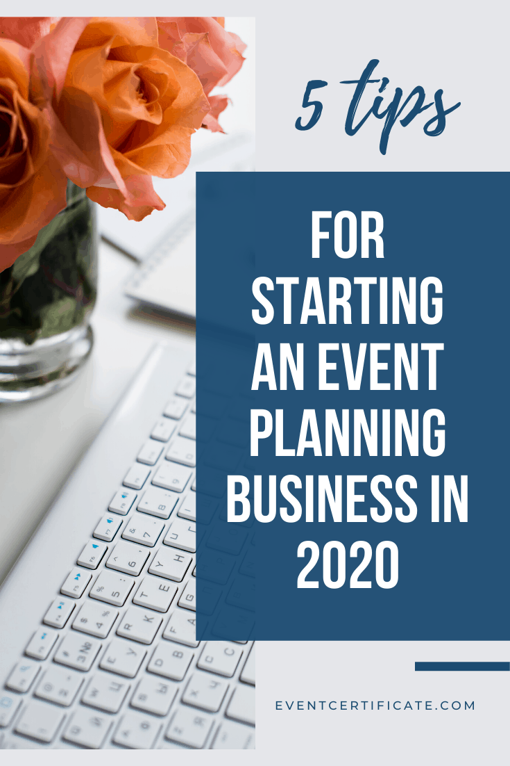 starting an event planning business in 2020