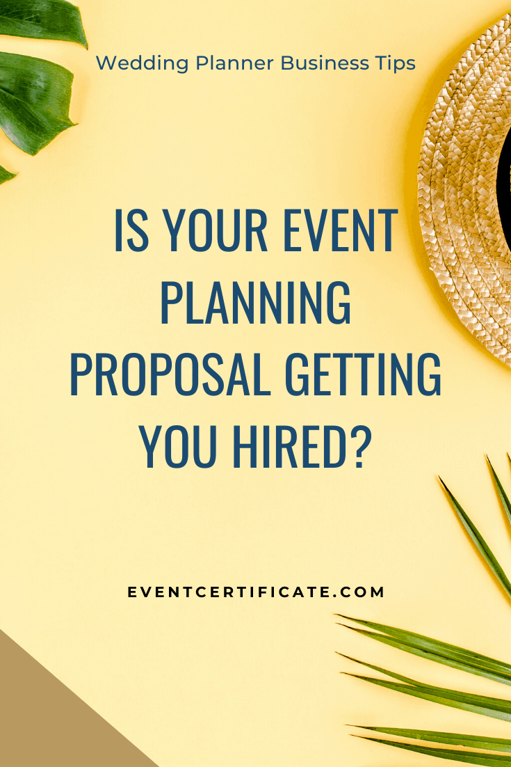 event planning proposal wedding planner