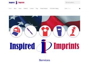 Inspired Imprints website design