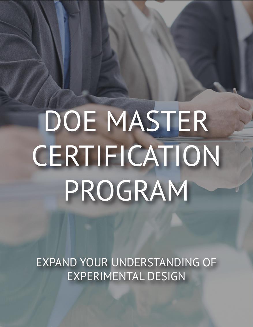 DOE Master Certification Program