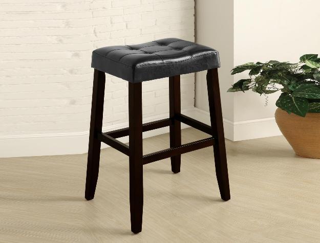 Union Furniture Dining Room 2987-BK Saddle Chair Stool