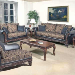 Union Furniture living room set leather black