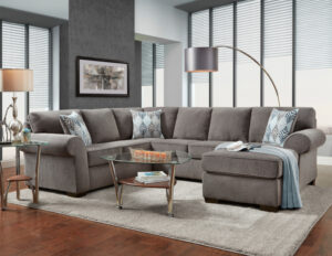 union-furniture-living room-3050-gray-sectional