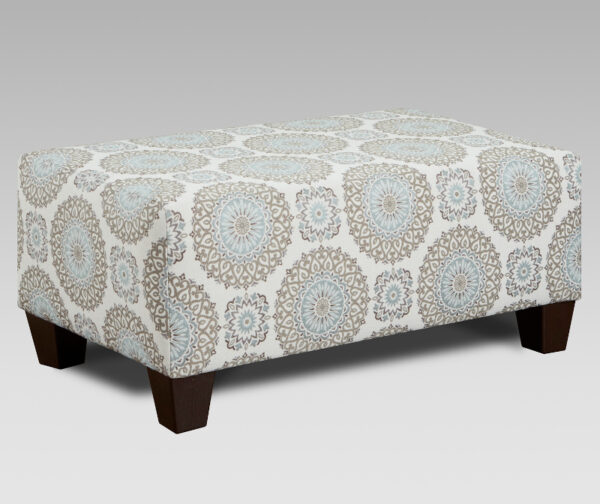 union-furniture-living room-3440-9001-tan-blue-accent-ottoman