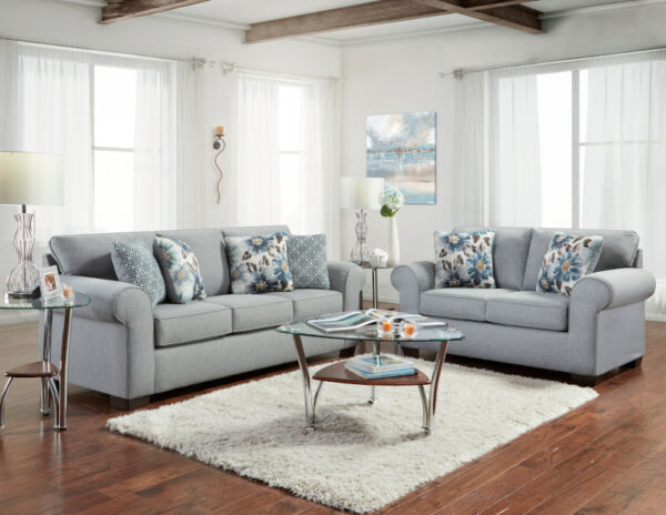 union-furniture-living room-gray-sofa-loveseat