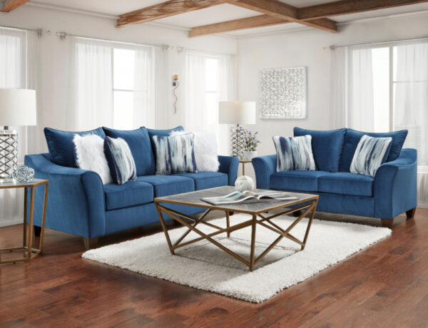 union-furniture-living room-blue-sofa-loveseat