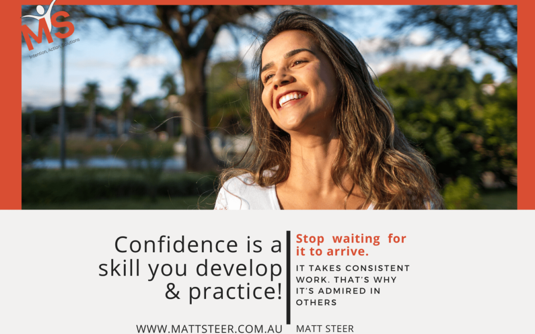 Self Confidence is a Skill you develop & practise