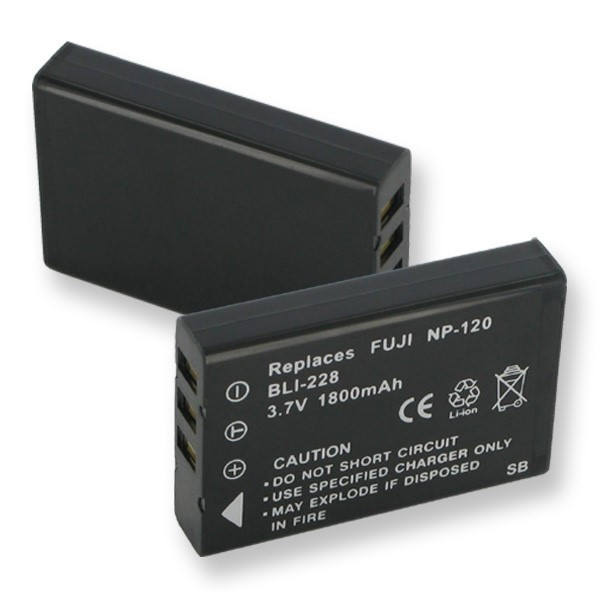 Battery in the legacy camcorder format for FUJI NP-120