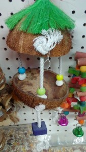 Coconut Shell Bird Play House