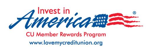 Invest in America- CU member Rewards program. www.lovemycredtiunion.org