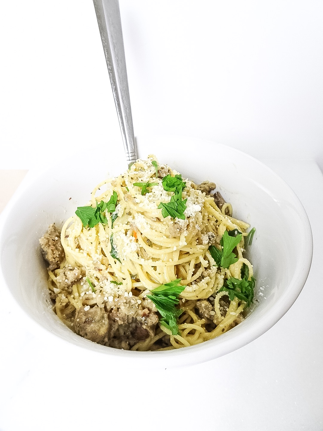 quick and easy sausage carbonara