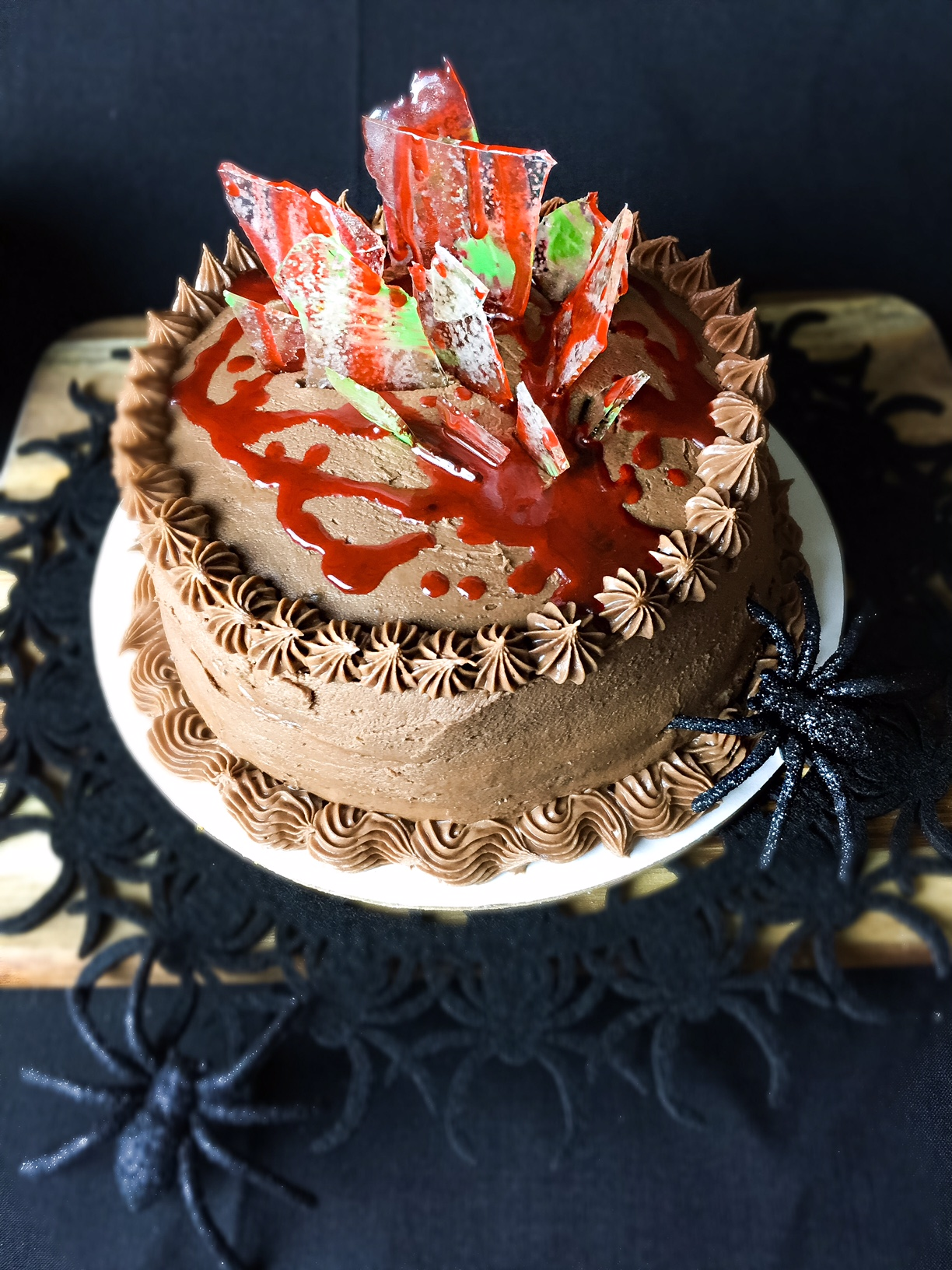 halloween chocolate cake