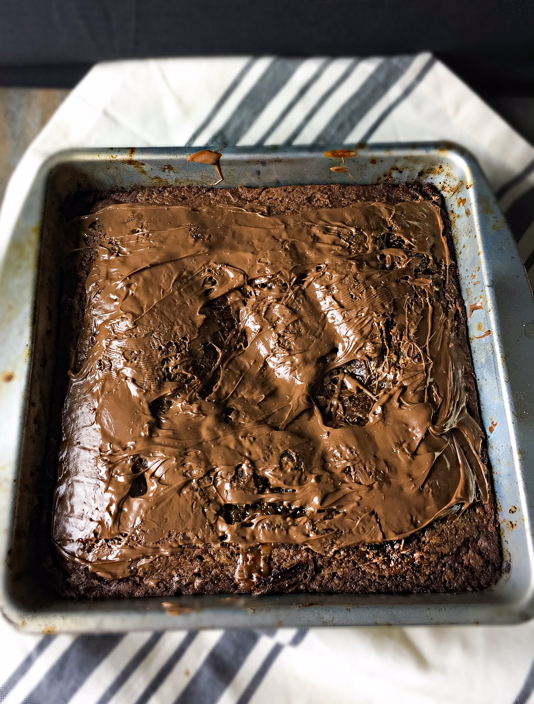 caramel nutella brownies