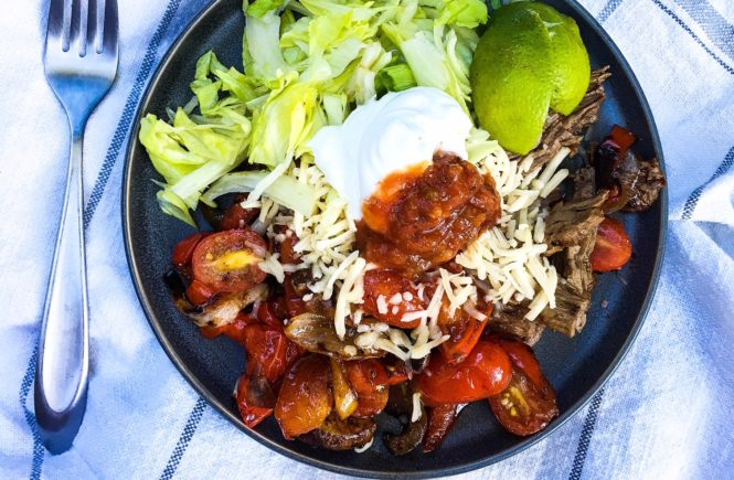 chicken thigh fajitas