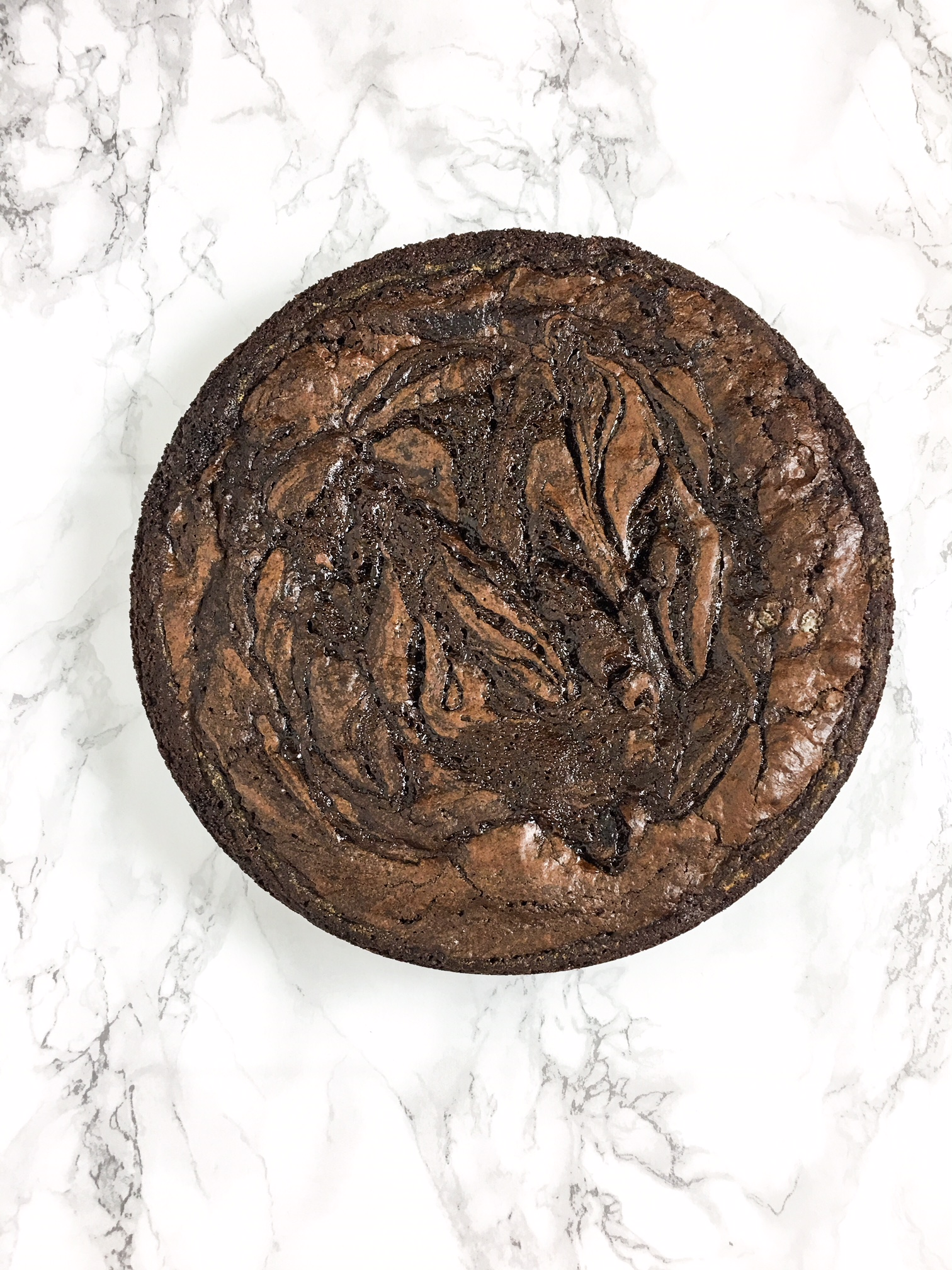 caramel espresso brownies