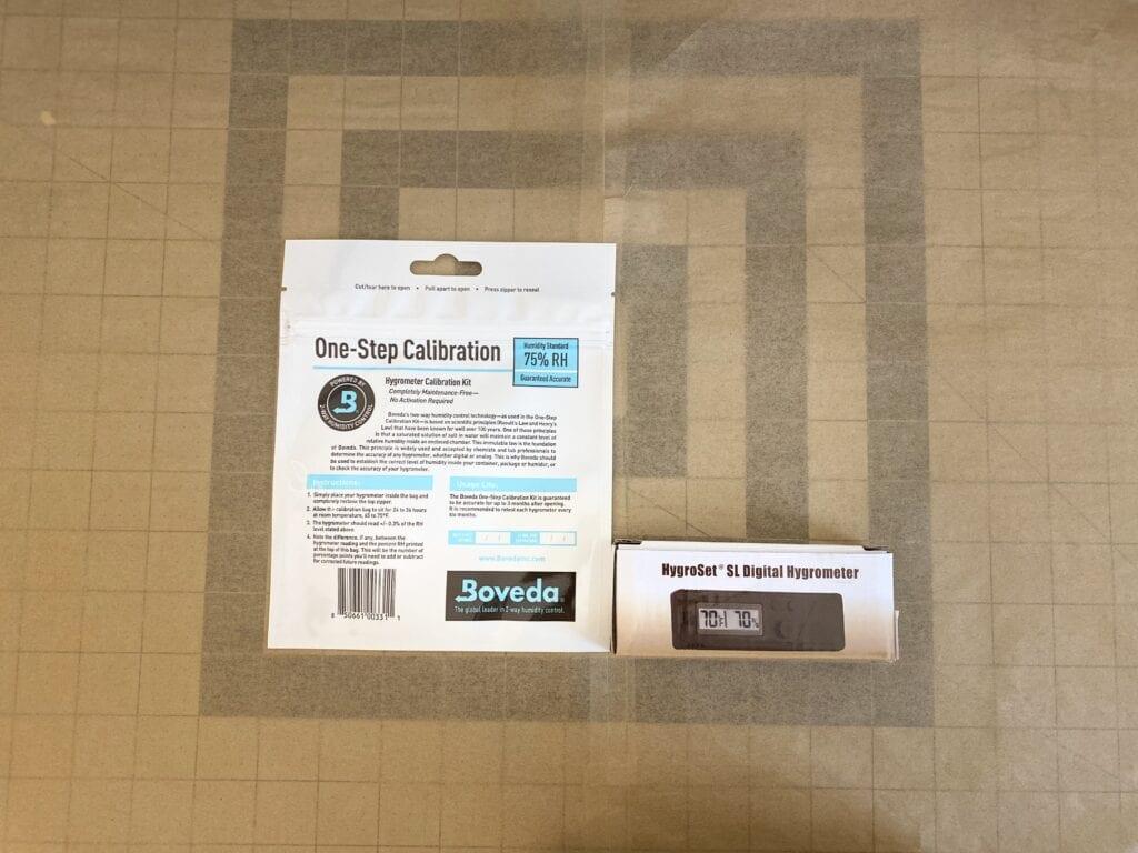 HygroSet Slim Hygrometer w/Boveda Calibration Kit