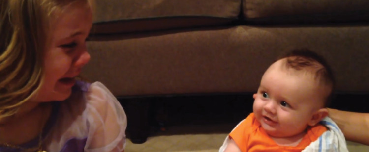 Big Sister Sadie Doesn't Want Her Adorable Little Brother To Grow Up Because He's So Cute!