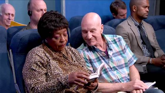 Not Awesome: Annoying People On Planes Are Not Awesome, But This Video Of Patrick Stewart Imitating Those People Is Absolutely Hilarious