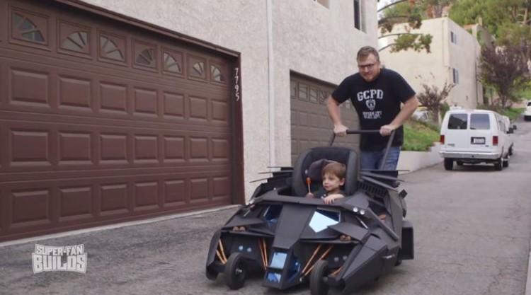This Toddler Has The Coolest Stroller In The World: He Cruises Around In His Very Own Batmobile!