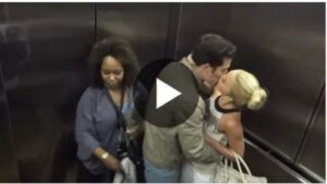 This Couple Starts Making Out In An Elevator, But Watch The Woman Behind Them. HILARIOUS!