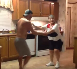 Son Grabs Mom's Hand When Their Favorite Song Comes On, Their Dance Is Lighting Up The Internet 6