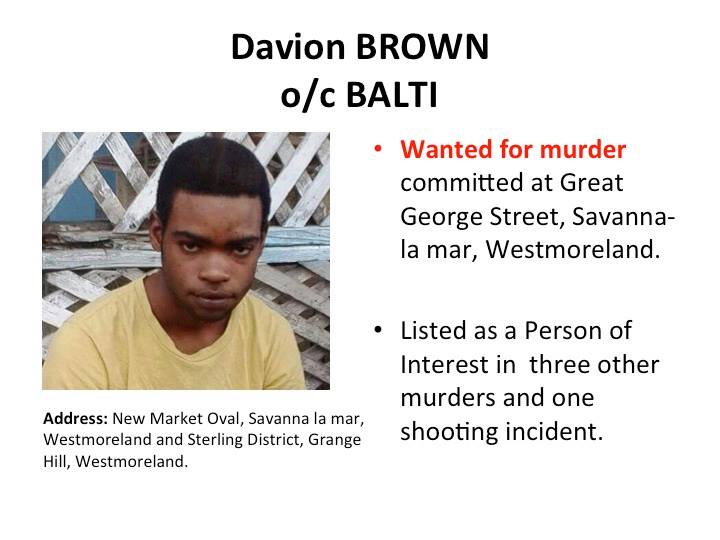 Police name top five most wanted Jamaican men 17
