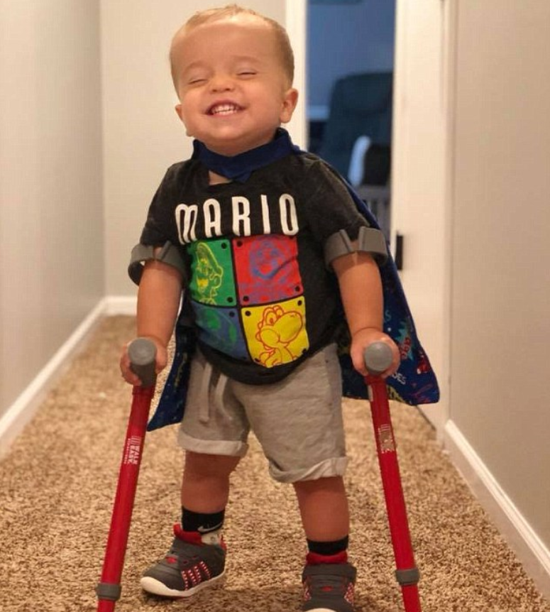 Boy With Spina Bifida Walks On Crutches And Shares Excitement With His Best Mate Dog 6