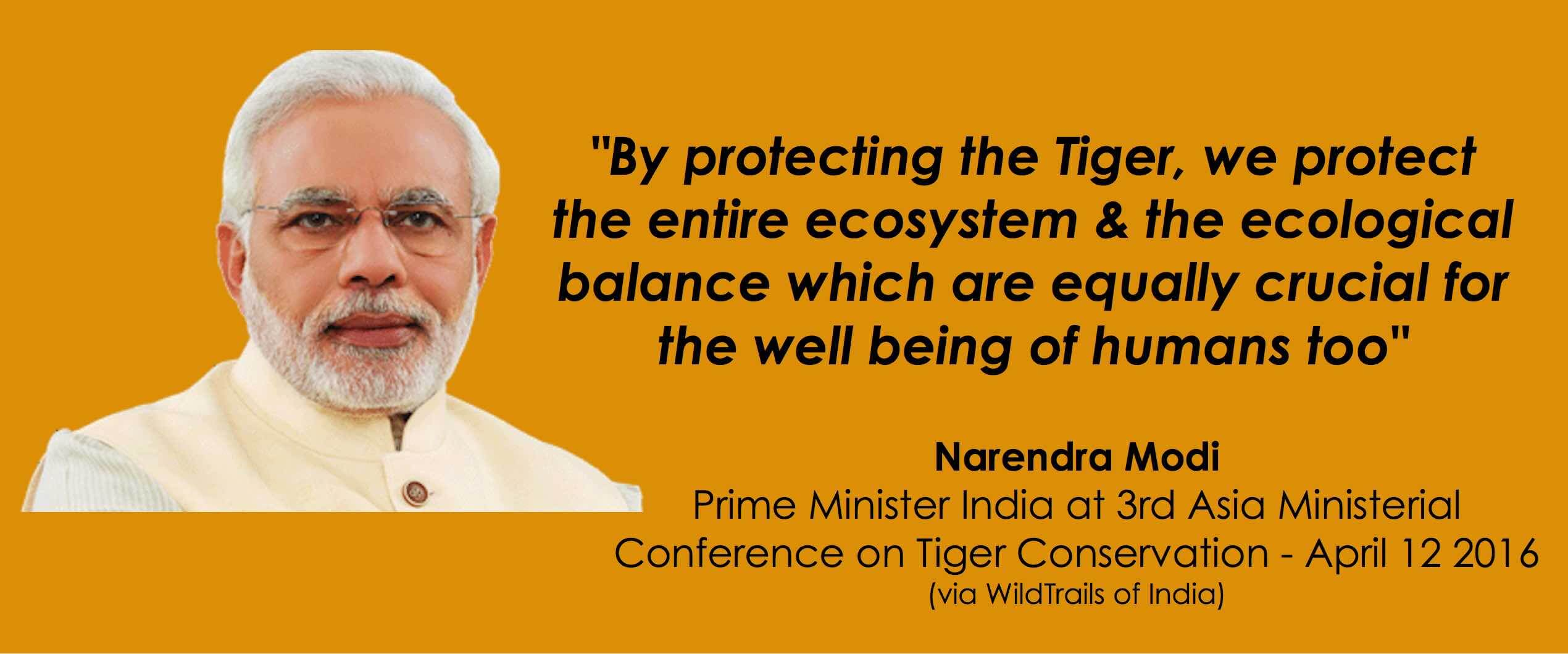 Narendra Modi on Tiger Conservation