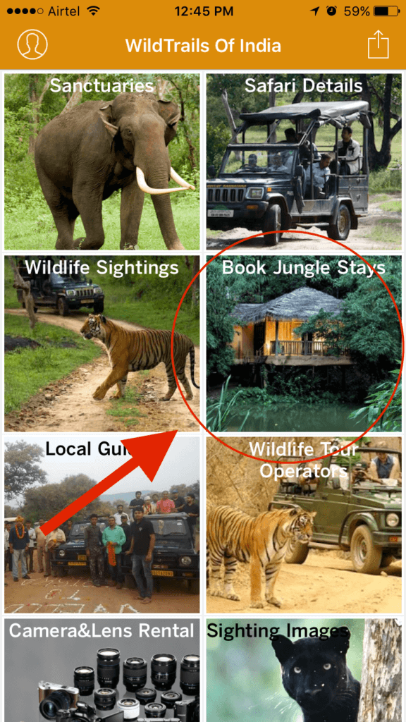 Book Jungle Stay WildTrails India App