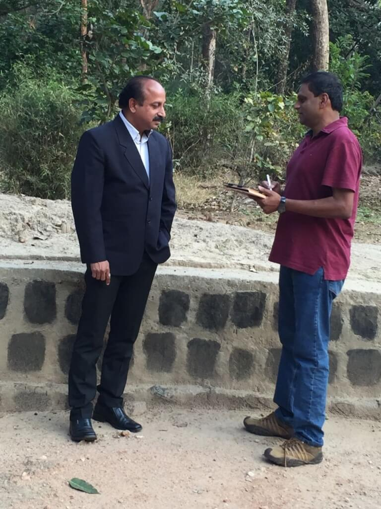 Sanjay Shukla being interviewed by WildTrails India App