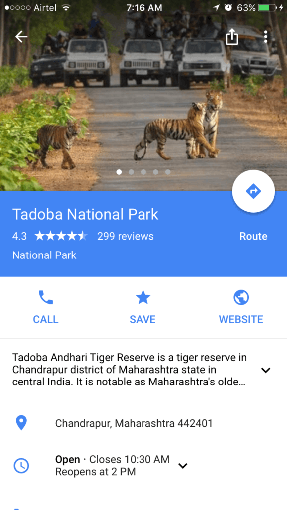 offline google map for wildlife