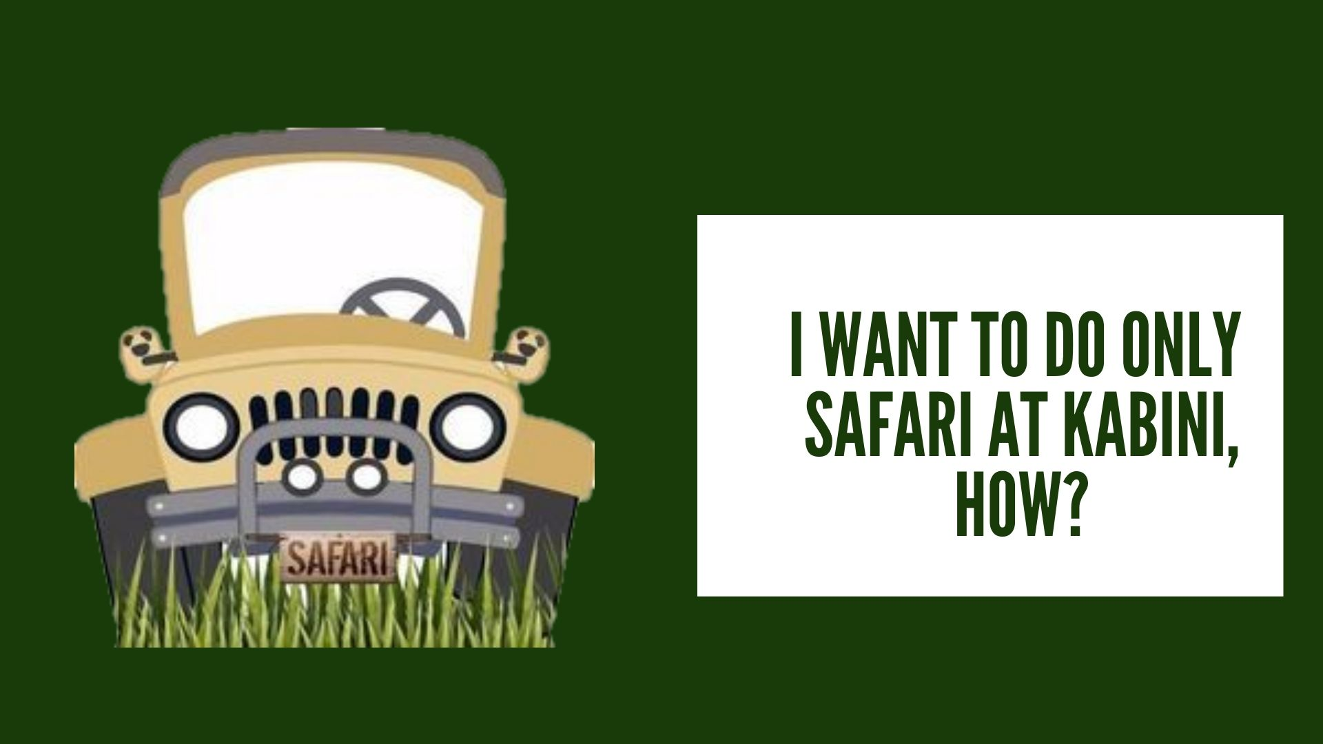 Kabini Jeep Safari