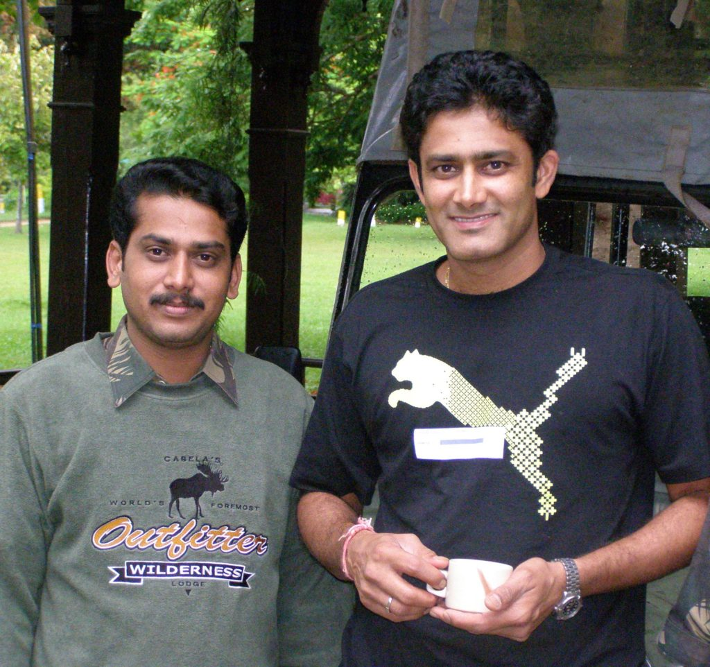 prasanna with anil kumble wildtrails india