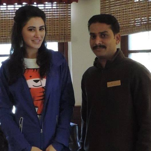 prasanna with nargis fakhri wildtrails india