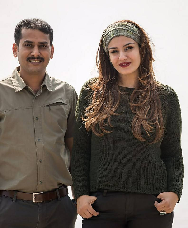prasanna gowda with raveena tandon wildtrails india