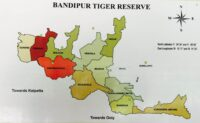 Map Of Bandipur National Park