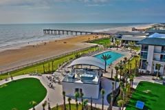 Saint Augustine Beach Pier / Embassy Suites Hilton