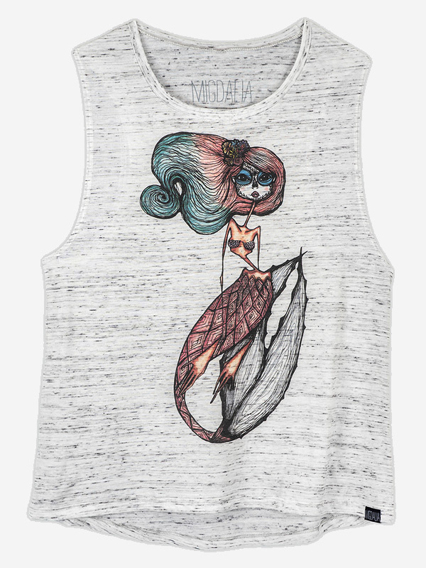 Colorful Dead Mermaid Tank Top