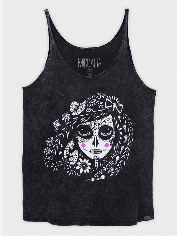 Slouchy Day of Dead Tank Top