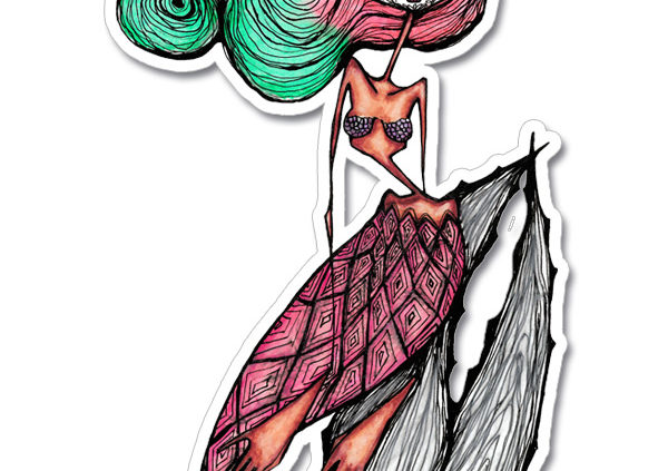 Marina Mermaid of the dead vinyl sticker