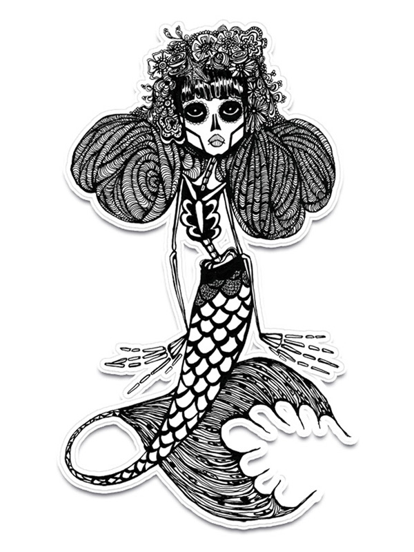 Dead Mermaid Sticker