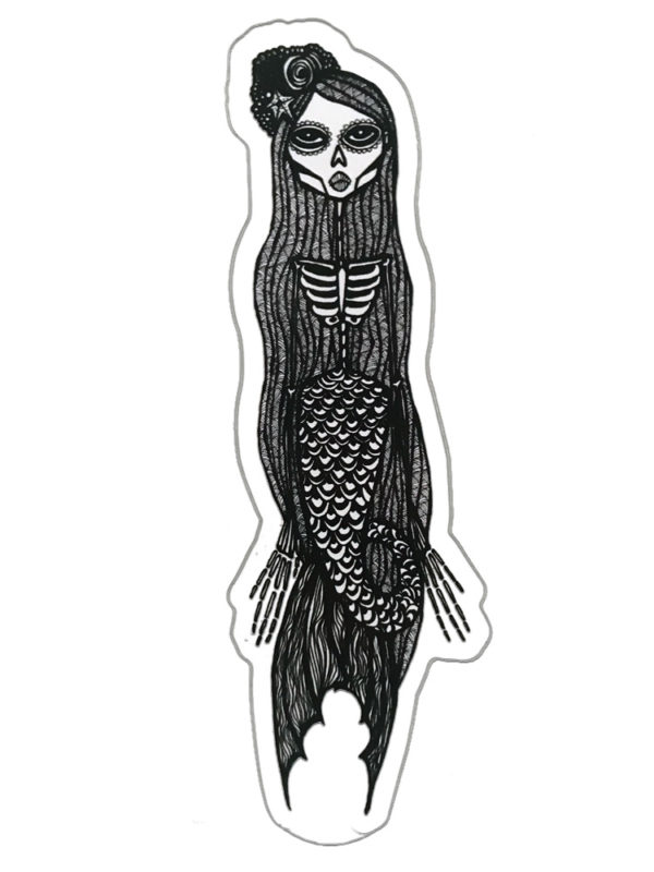 Mermaid Sticker Day of the dead