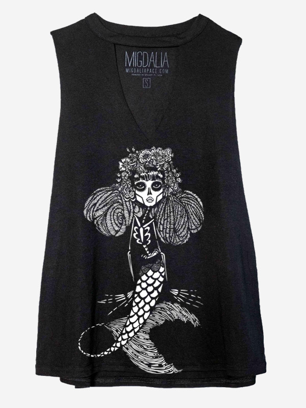 La Reina Cut Neck tank Dead Mermaid