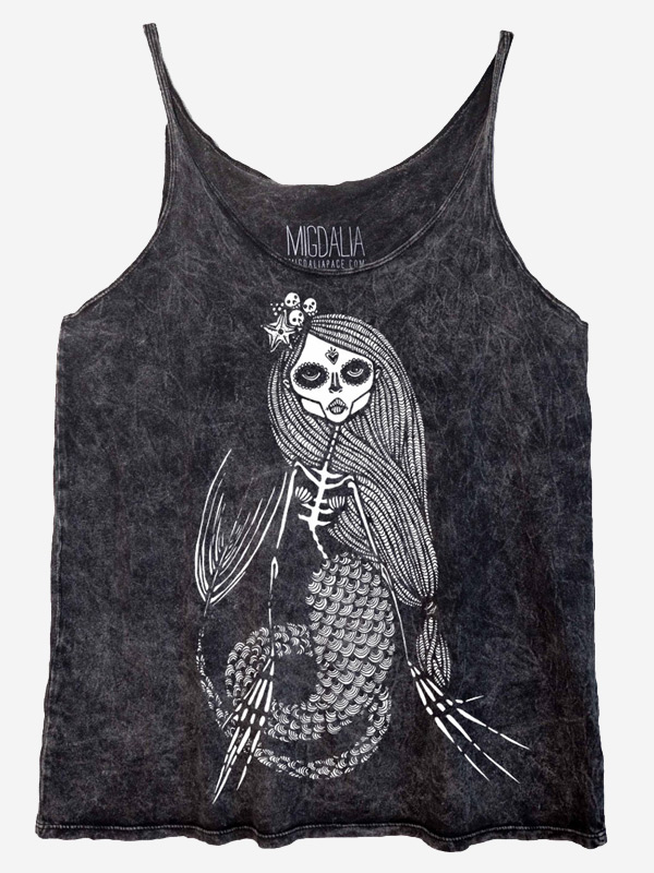 Slouch Tank - Lady of the Dead Mermaid
