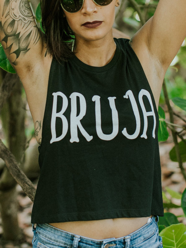 sexy tattoo girl in Bruja Shirt