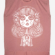 Day of Dead Girl rolled cuff shirt