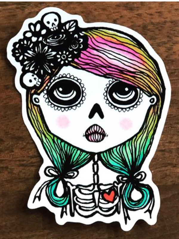 Lady of the Dead Sticker