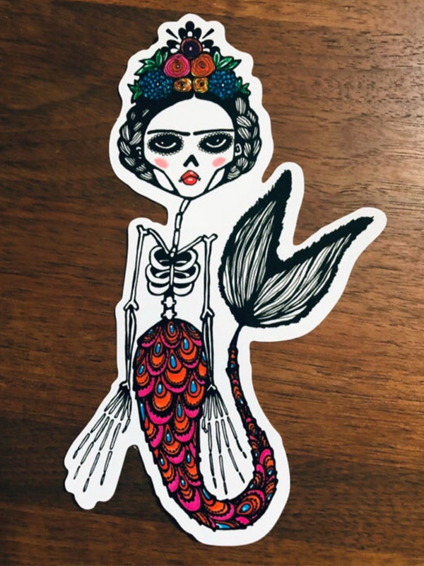 Friday Day of the Dead Mermaid